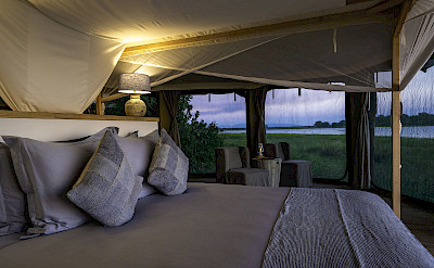 Kuthengo tented camp. ©TO