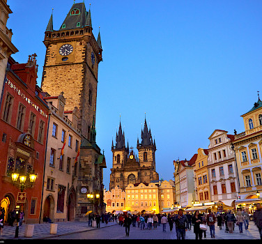 Old Town Square in Prague, Czech Republic. Photo via Flickr:Moyan Brenn