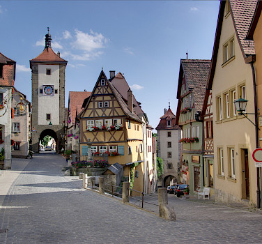 Rothenburg on the Tauber River along the Romantic Road, Bavaria, Germany. Photo via Wikimedia Commons:Berthold Werner (Public Domain)