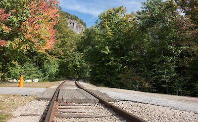 Railroad near Arethusa Falls, White Mountains, New Hampshire. Flickr:vladislav@munich