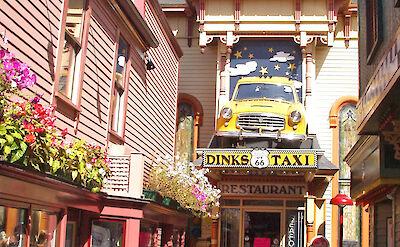 Bar Harbor Alley in Bar Harbor, Maine. Flickr:Jett Brooks