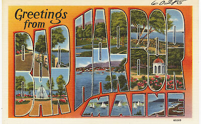 Greetings from Bar Harbor, Maine. Flickr:Boston Public Library