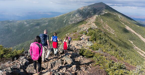 Hiking the ridges of the White Mountains in New Hampshire. Flickr:Robbie Shade