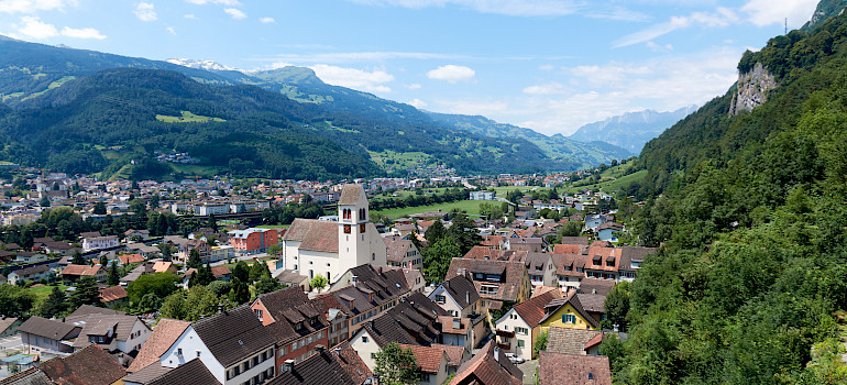 View from the Castle in Vaduz, the captial of Liechtenstein. Photo via Wikimedia Commons:Zjtaylor