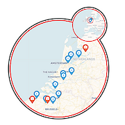 Amsterdam to Bruges - 12 days Map