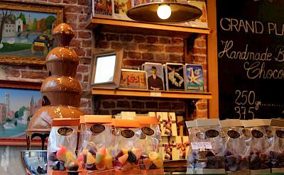 Chocolate shop in Bruges in West Flanders, Belgium.Flickr:Jeff & Brian