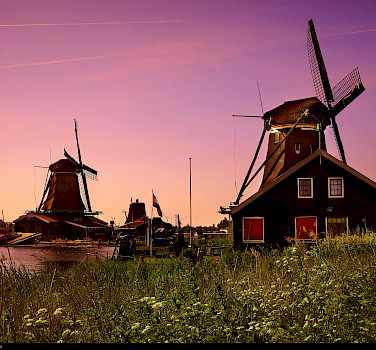 Zaanse Schans near Amsterdam, North Holland, the Netherlands. Photo via Flickr:Moyan Brenn