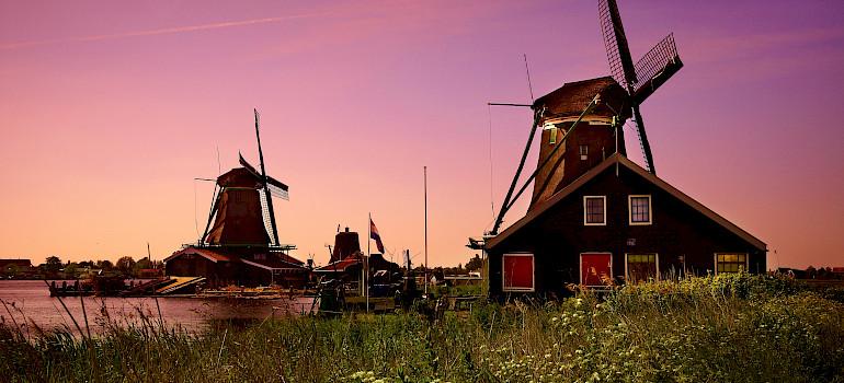 Zaanse Schans near Amsterdam, North Holland, the Netherlands. Photo via Flickr:Moyan Brenn