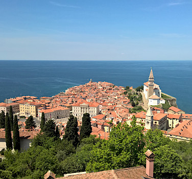 Piran, Slovenia along the Adriatic Sea. Photo via Wikimedia Commons:moonbee