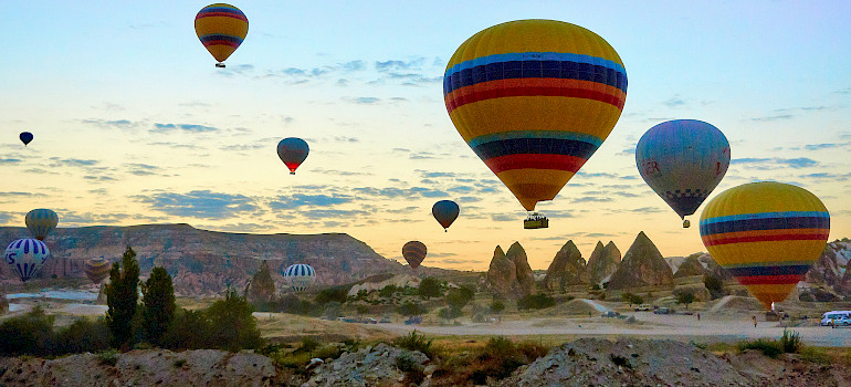 Cappadocia in the Goreme region of Turkey. Photo via Flickr:Moyan Brenn