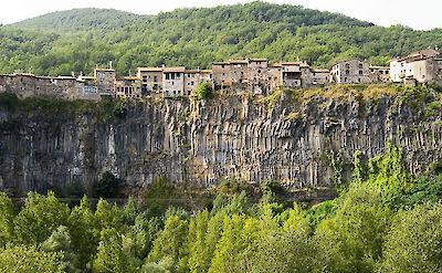 La Roca atop basalt cliffs in Catalonia, Spain. Flickr:Ferran Cerdans Serra