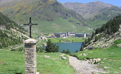 Sanctuary de Núria in Catalan Pyrenees, Spain. CC:Canaan