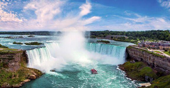 Niagara Falls in Canada. 43.106018, -79.063856