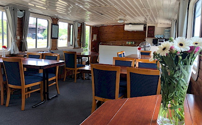 Alternate view of the dining area - Clair de Lune - Bike & Boat Tours