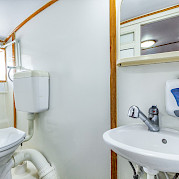 Cabin Bathroom - Kapetan Jure | Bike & Boat Tours