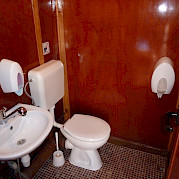 Bathroom on the Linda | Bike & Boat Tours