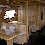 Saloon on the Linda | Bike & Boat Tours