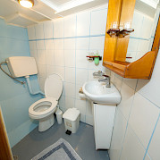 Cabin Bathroom - Panagiota | Bike & Boat Tours