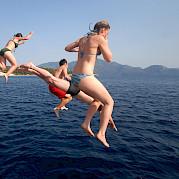 Swimming off the Panagiota