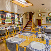 Dining room on the Allure | Bike & Boat Tours