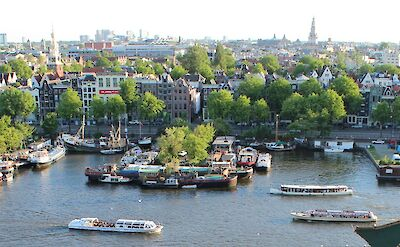 Cityscape in Amsterdam, North Holland, the Netherlands. CC:Simmerguy269