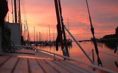 Sunset in Makkum in Friesland, the Netherlands. Flickr:Maurice Luimes