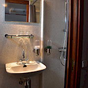 Cabin Bathroom | Flora | Bike & Boat Tours