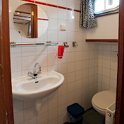 Cabin bathroom - Sarah | Bike & Boat Tours