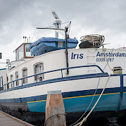 The Iris, moored and waiting for your arrival