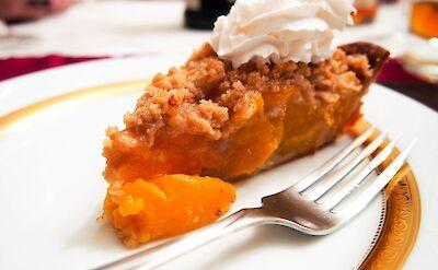 Savannah Georgia's famous Peach Pie!! Flickr:Derek Tam