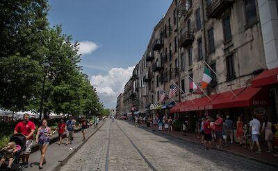 The famous River Street in Savannah, Georgia. Flickr:Stephen Rahn