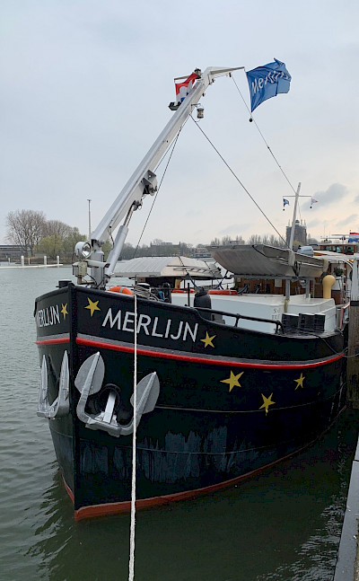Merlijn docked - Bike & Boat Tours