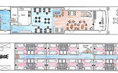 Deck Plan - Sailing Home | Bike & Boat Tours