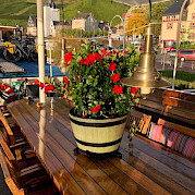 Colorful flowers on the sun deck | Zwaan | Bike & Boat Tours