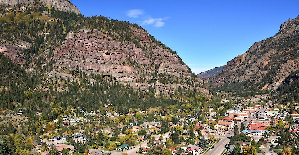 Ouray among the San Juan Mountains in Colorado. Flickr:Mike McBey
