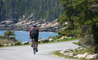 Biking Acadia National Park. Flickr:NPS Climate Change Response
