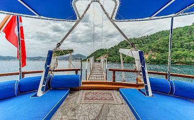 Lounge mats on deck | Bahriyeli | Bike & Boat Tours