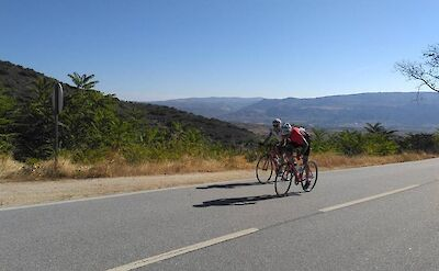 TripSite's Hennie biking the Douro Valley, Portugal.