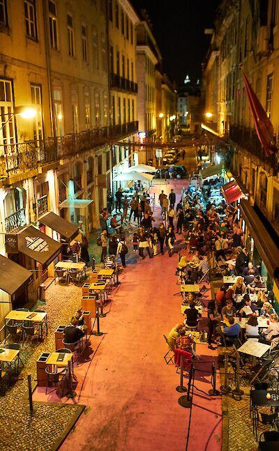 Evening dining in Lisbon, Portugal. Flickr:Luca Sartoni