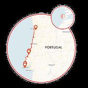 Porto to Lisbon Map