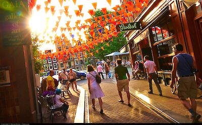 Summertime in Amsterdam, North Holland, the Netherlands. Flickr:Moyan Brenn