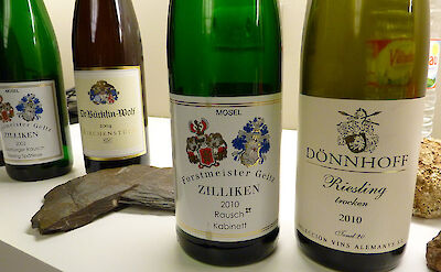 Riesling is famously grown along the Mosel River in Germany. Flickr:Dpotera