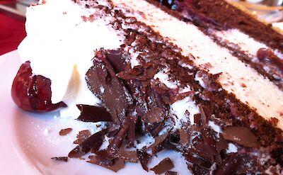 Schwarzwälder Kirschtorte cake in Germany! Flickr:Jeremy Keith