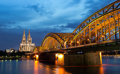Rhine River, Cologne Cathedral & Hohenzollern Bridge in Germany. Flickr:Anja Pietsch