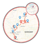 Münster to Cologne Map