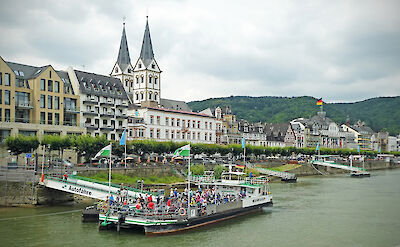 Boppard along the Rhine River in Germany. Flickr:Andrew Gustar