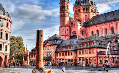 Mainz Cathedral on the Rhine River in Germany. Flickr:Heribert Pohl