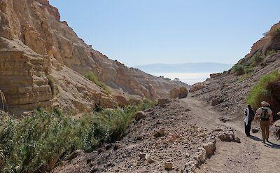 Hiking the rocky terrain in Israel. Flickr:Brian Holsclaw