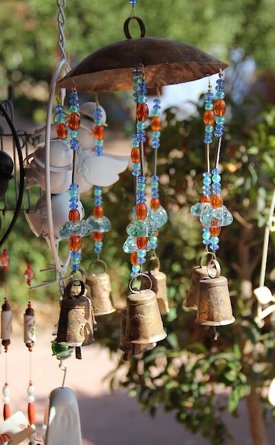 Wind-chime in Israel. Unsplash:Shaley Cohen