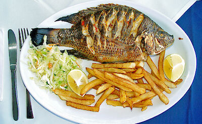 St Peter's Fish is a must-have on the Sea of Galilee. Flickr:Larry Koester